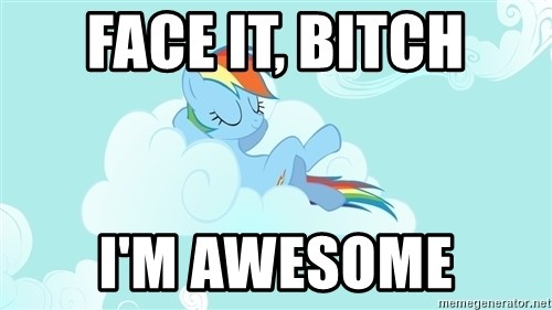 Rainbow Dash Cloud - face it, bitch i'm awesome