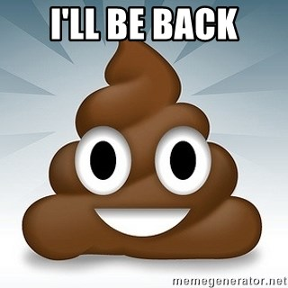 Facebook :poop: emoticon - i'll be back