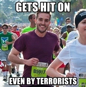 Ridiculously photogenic guy (Zeddie) - gets hit on even by terrorists