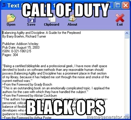 Text - Call of duty Black ops