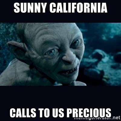 gollum - Sunny California  Calls to us precious