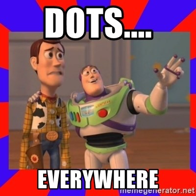 Everywhere - Dots.... EVERYWHERE