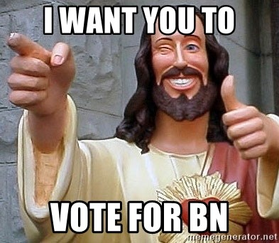 Cool Jesus - I want you to vote for bn