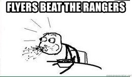 Cereal Guy Spit - Flyers beat the rangers