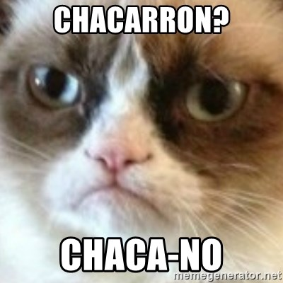 angry cat asshole - Chacarron? chaca-no