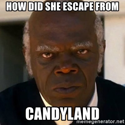 SAMUEL JACKSON DJANGO - how did she escape from candyland