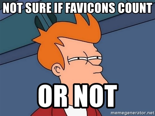 Futurama Fry - not sure if favicons count or not