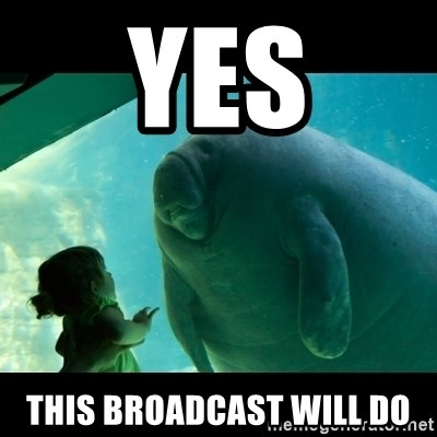 Overlord Manatee - yes This broadcast will do