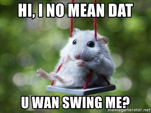 Sorry I'm not Sorry - HI, I no meAn dat U wan swing me?