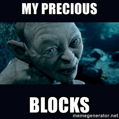 gollum - My Precious blocks