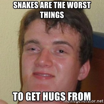 10guy - Snakes are the worst things to get hugs from