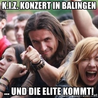 Ridiculously Photogenic Metalhead - K.I.Z. Konzert in Balingen ... und die elite kommt!