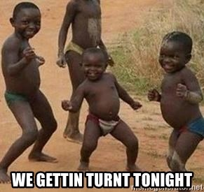 african children dancing -  We gettin turnt tonight