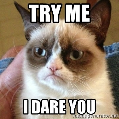 Grumpy Cat  - Try me I dare you