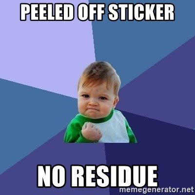 Success Kid - Peeled off sticker no residue