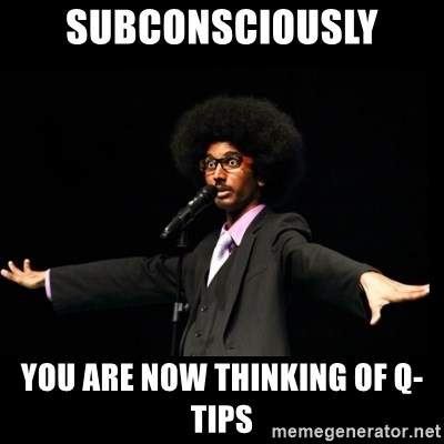 AFRO Knows - subconsciously you are now thinking of q-tips