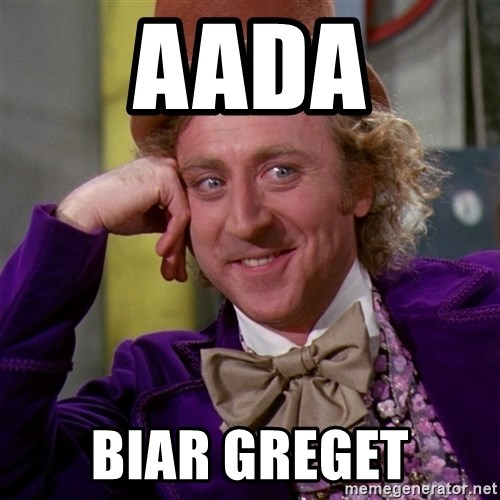 Willy Wonka - aada BIAR GREGET