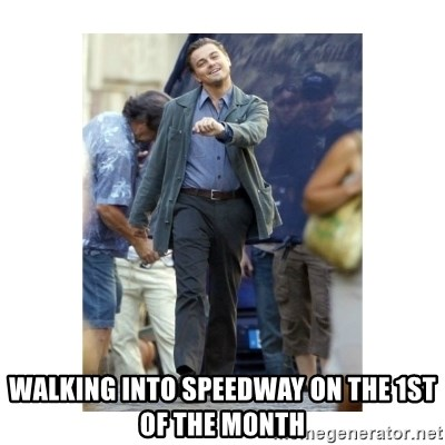 Leonardo DiCaprio Walking -  Walking into speedway on the 1st of the month