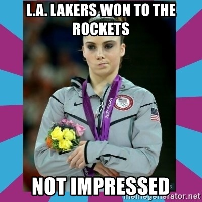 Makayla Maroney  - L.A. Lakers won to the rockets not impressed