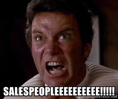 Khan -  SALESPEOPLEEEEEEEEEE!!!!!