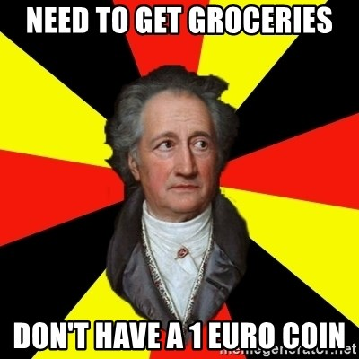 Germany pls - need to get groceries don't have a 1 euro coin