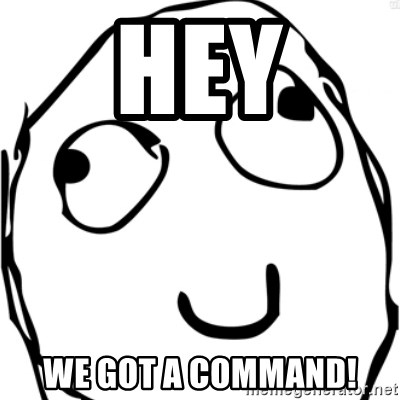 Derp meme - Hey WE GOT A COMMAND!