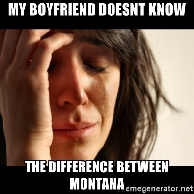 crying girl sad - My boyfriend doesnt know the difference between Montana