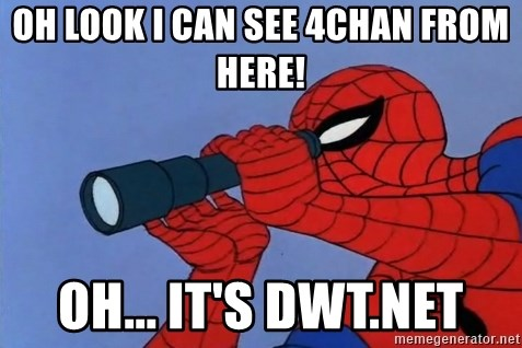 Spiderman Lunar Eclipse - oh look i can see 4chan from here! oh... it's dwt.net