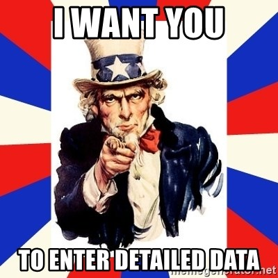 uncle sam i want you - I want you to enter detailed Data