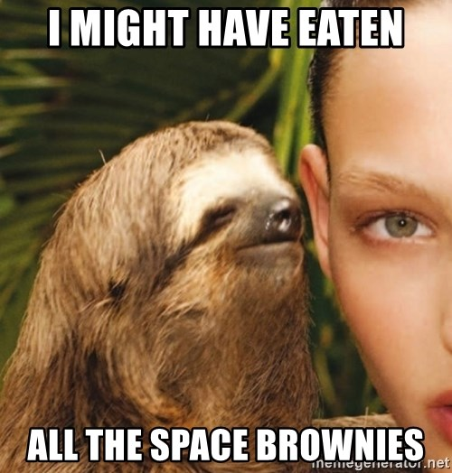 The Rape Sloth - I might have eaten all the space brownies