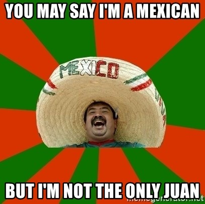 Successful Mexican - You may say I'm a mexican  but I'm not the only juan