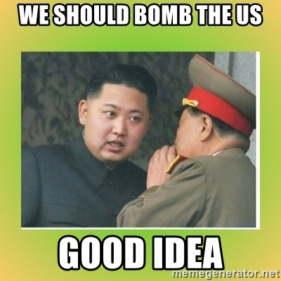 kim joung - we should bomb the us good idea