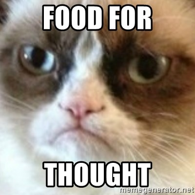 angry cat asshole - Food for Thought