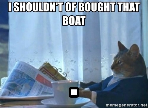Sophisticated Cat - I shouldn't of bought that boat .