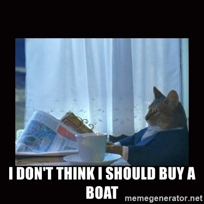 i should buy a boat cat -  i Don't think i should buy a boat