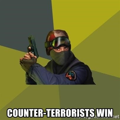 Counter Strike -  Counter-Terrorists win
