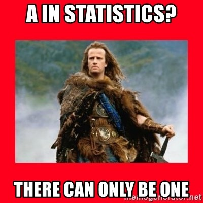 Highlander - A In Statistics? There can only be one