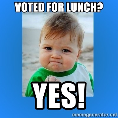 yes baby 2 - VOTED FOR LUNCH? YES!