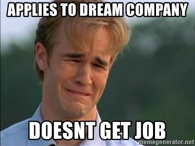 James Van Der Beek - Applies to dream company Doesnt get job