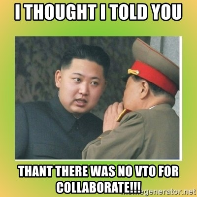 kim joung - I thought I told You  Thant there was no VTO for Collaborate!!!