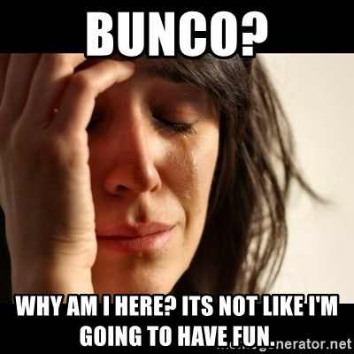 crying girl sad - Bunco? Why am I heRe? its not like I'm going to have fun.