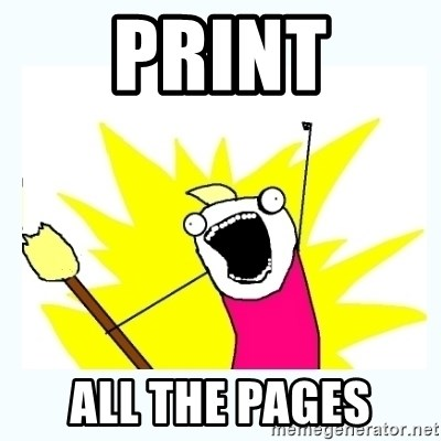 All the things - Print all the pages
