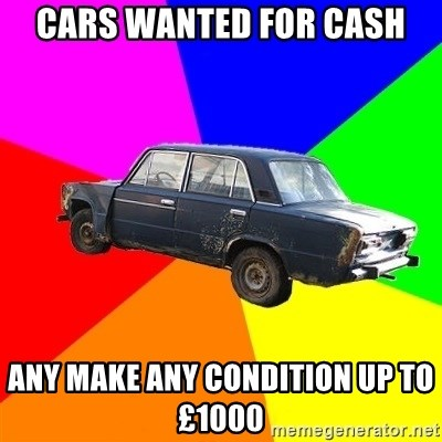AdviceCar - cars wanted for cash any make any condition up to £1000
