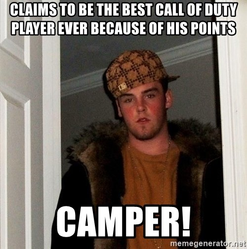 Scumbag Steve - claims to be the best call of duty player ever because of his points camper!