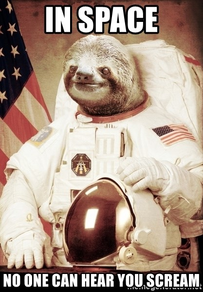space sloth - In Space no one can hear you scream