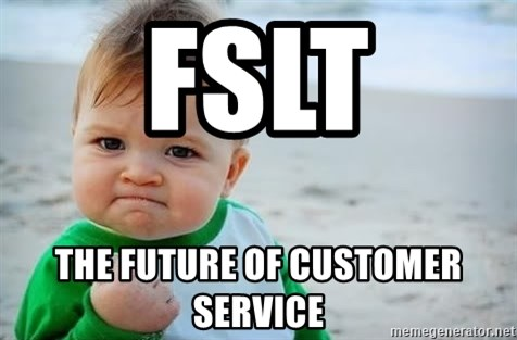 fist pump baby - FSLT THE FUTURE OF CUSTOMER SERVICE