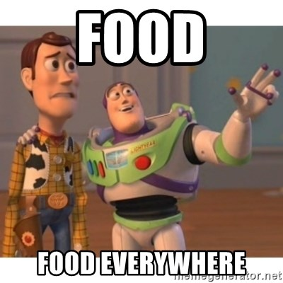 Toy story - food food everywhere