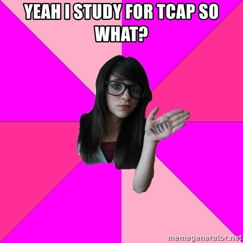 Idiot Nerd Girl - YEAH I STUDY FOR TCAP SO WHAT?