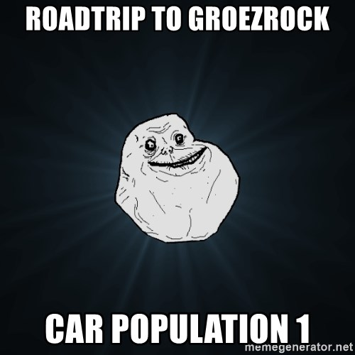 Forever Alone - roadtrip to groezrock car population 1