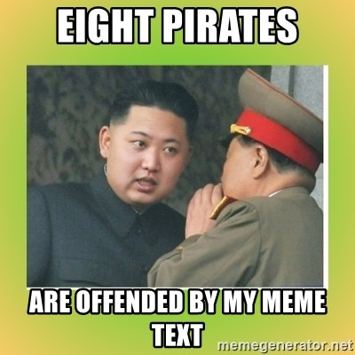 kim joung - Eight pirates are offended by my meme text